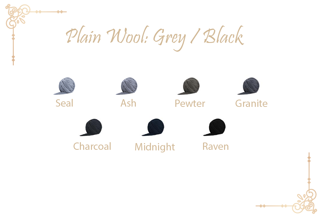 Grey / Black wool collection